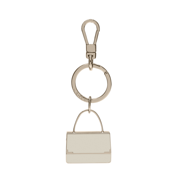 Lancel Key Ring ALABASTER
