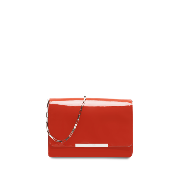 Lancel Varenne de  Large shoulder bag CINNABAR